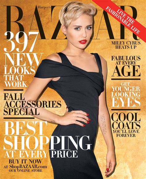 Harpers Bazaar Its Here by Miley Cyrus Covers S Bazaar October 2013 By Terry