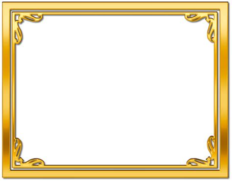 Cards Transparent Background Template For A 4x6 by Gold Frame Border Free Clipart Search