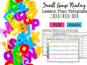 Small Group Lesson Plan Template Editable Tpt Small Lesson Plan Template