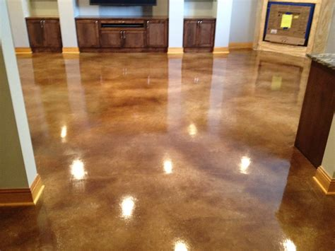 How To Stain Interior Concrete Floors by Interior Concrete Floors St Paul Minneapolis Mn Acid