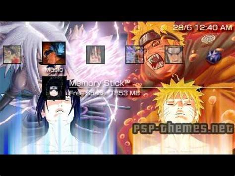 naruto opening themes download psp theme naruto vs sasuke theme psp themes net youtube