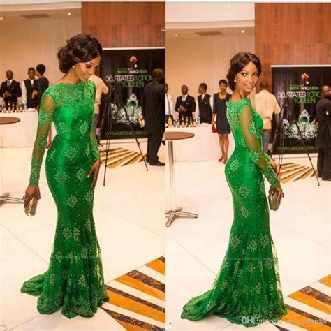green lace nigerian women designs for weddings green lace nigerian evening gowns mermaid arabic dresses