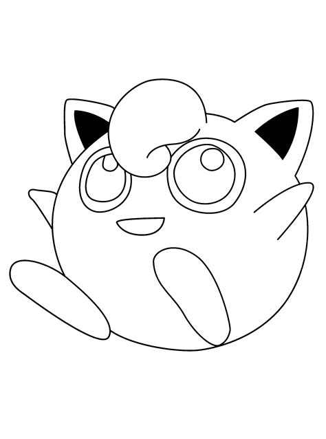 pokemon coloring pages jigglypuff free coloring pages of pokemon jigglypuff