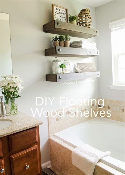 cheap bathroom shelves craftaholics anonymous 174 diy floating shelves