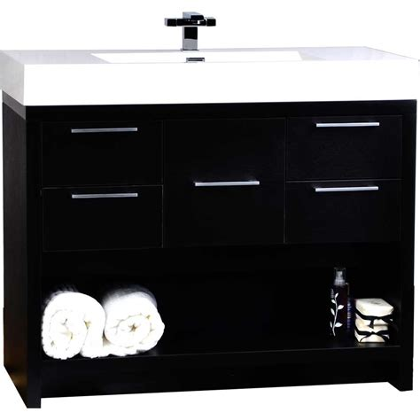 40 inch modern bathroom vanity set in black tn l1000 bk