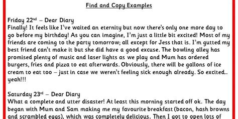 dear diary template ks2 nonchronological report writing exles ks2