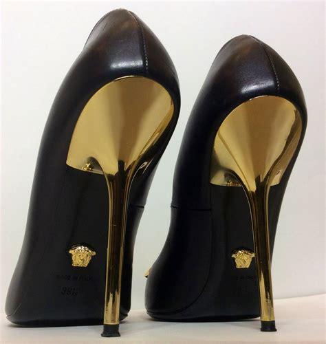 gold stiletto high heels versace palazzo stiletto gold medusa high heels 39 1 2 at