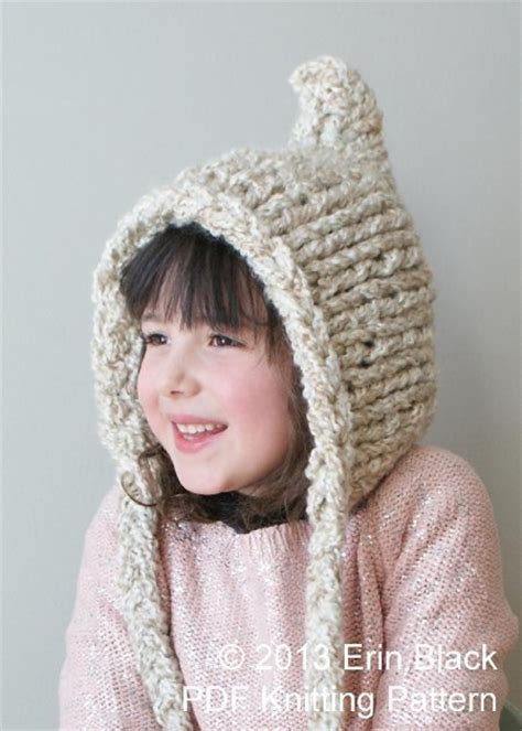 free pixie hat knitting pattern chunky pixie hat hat004 knitting pattern by midknits