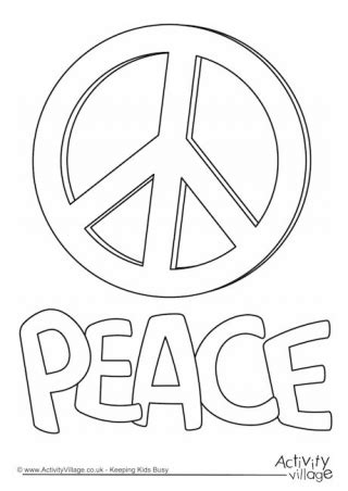 Peace Day For Kids Peace Day Coloring Pages