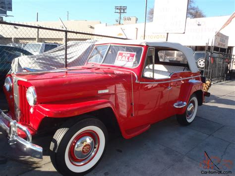 1948 willys jeepster 1948 willys jeepster overland 6 cyl flathead od
