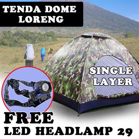 Dome Untuk buy tenda dome kapasitas 4 5 orang warna loreng single
