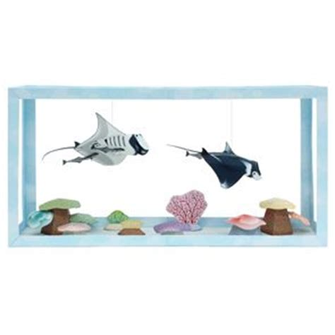 Canon Printable Paper Crafts - free 3d printable paper aquarium manta remora toys