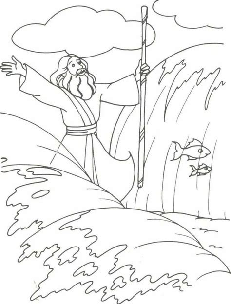 parting of the red sea coloring page az coloring pages