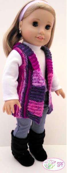 sweet pea fashions crocheted shawl collar vest doll