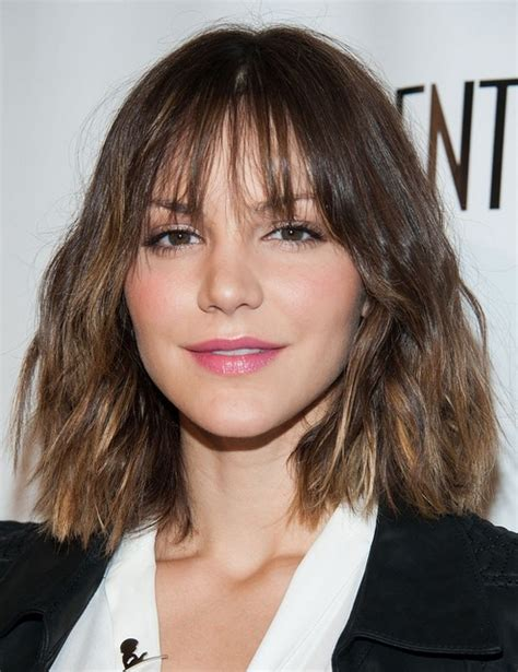 blunt haircuts for fine hair 2014 katharine mcphee s short hairstyles blunt layered