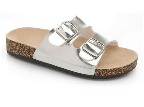 slip in sandals womens flat sandals summer comfort cork sole mules