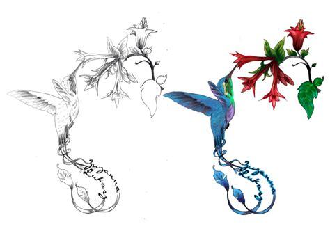 hummingbird with flower tattoo designs 38 hummingbird designs and ideas