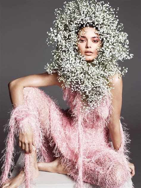 kendall jenner spring  fashion shoot vogue cover