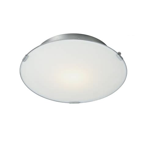 White Glass Ceiling Light Dar Lighting Foster Fos5246 Led White Glass Satin Chrome Flush Ceiling Light
