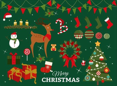xmas pattern illustrator christmas design elements with colored illustration free