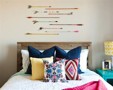 colorful tribal eclectic teen girl bedroom with arrows