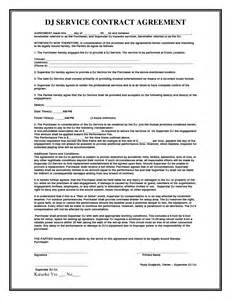 contract service agreement template 4 service agreement contract templatereport template