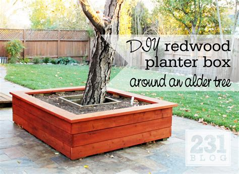 Planters For Around Trees by 231 Designs Planter Box With Seating Around The Alder