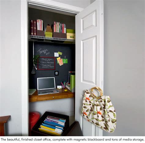 closet office get organized in a small space with a cloffice office