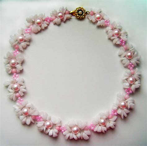 bead jewelry for free pattern for necklace flora magic