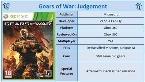 Kaset Xbox 360gear Of War 3 gears of war judgement xbox 360 review