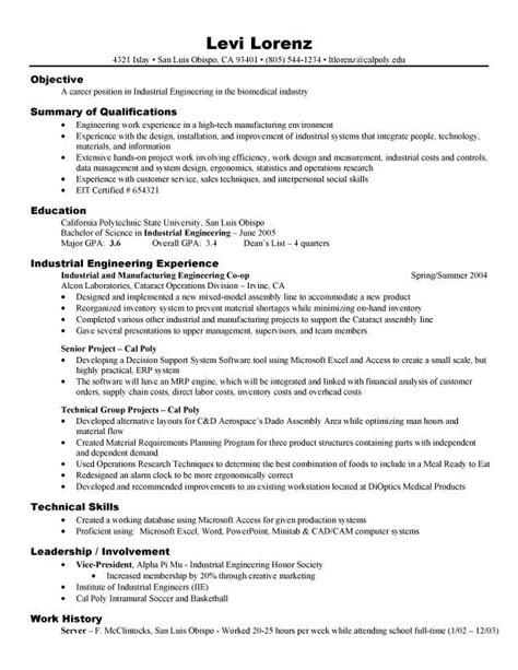 Resume Format For Electronics Engineering Students resume exles for electronics engineering students