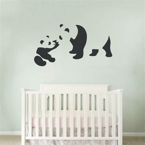 panda wall stickers panda wall decal p wall decal