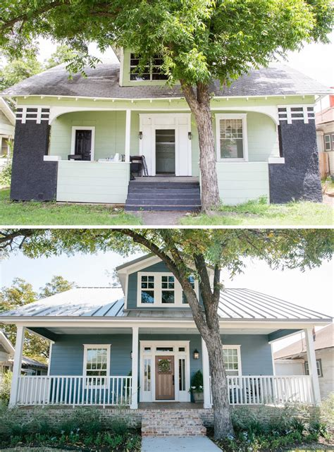 fixer upper curb appeal flower container and metal roof