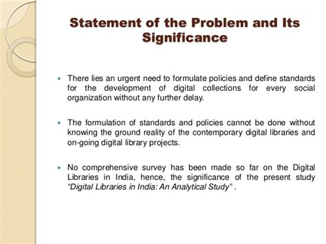 exle of thesis scope and limitation digital libraries in india an analytical study by dr