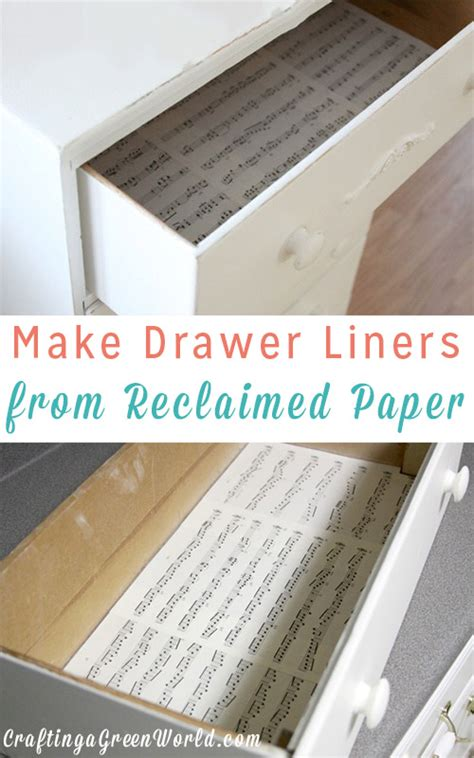 diy drawer liner paper diy drawer liners from reclaimed paper