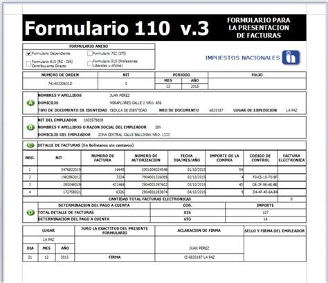 sueldo minimo nacional de bolivia 2016 minimo nal en bolivia 2016 monto en bs formulario 110 del