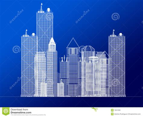 architecture blueprint of corporate buildings stock photo
