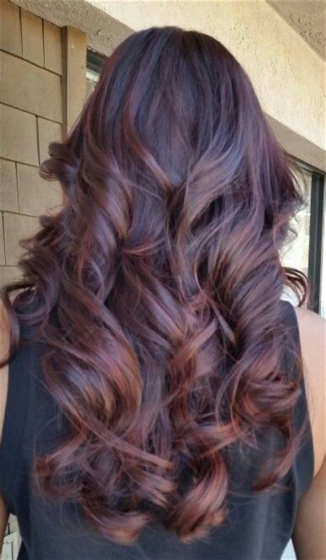 auburn with ombre highlights dark auburn balayage ombre hairstyles pinterest