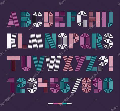 imagenes retro letra conjunto de rayas retro funky letra vector de stock