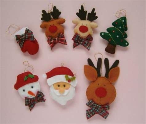 patrones adornos para el arbol de navidad en fieltro o
