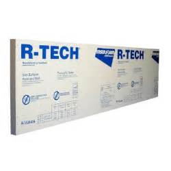 home depot insulation board r tech 1 1 2 in x 4 ft x 8 ft r 5 78 rigid foam