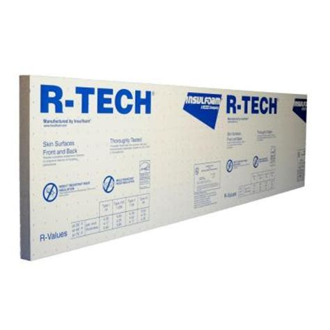 r tech 1 1 2 in x 4 ft x 8 ft r 5 78 rigid foam