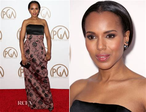 Catwalk To Carpet Kerry Washington In Maison Martin Margiela by Kerry Washington In Prabal Gurung 2015 Producers Guild