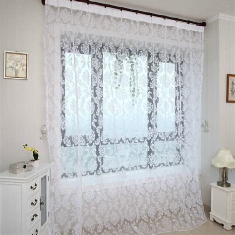 tende bianche da letto tende salotto shabby idee per il design della casa