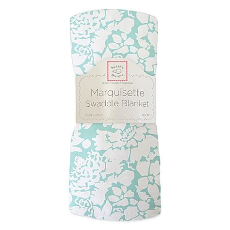 Swaddle Design Swaddle Lite Lush Seacrystal swaddle designs 174 marquisette swaddling blanket in sea lush bed bath beyond