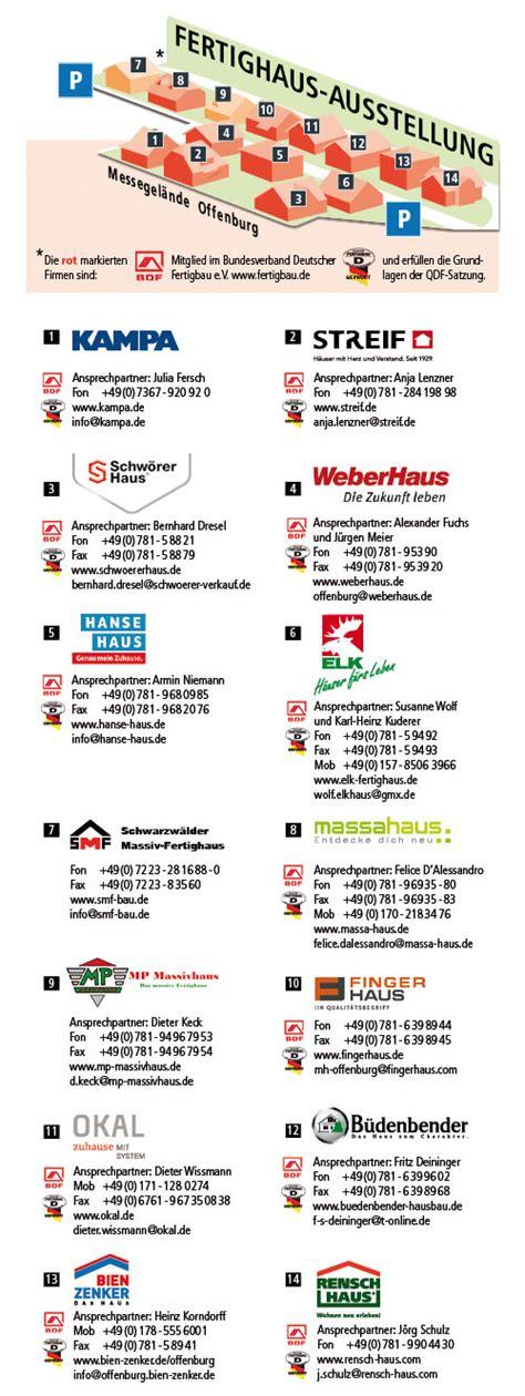 Fertighausausstellung Offenburg by Musterhauspark In Offenburg Hausbau Portal Net