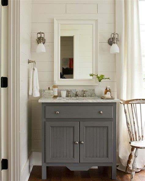 cottage bathroom vanity painted gray house ideas