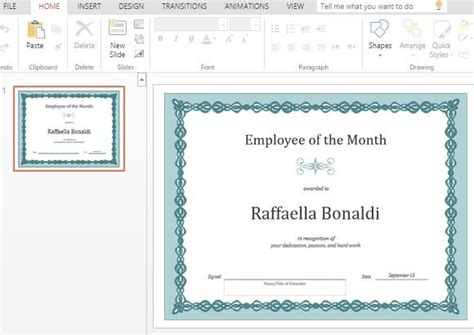 employee of the month powerpoint template best certificate templates for powerpoint powerpoint