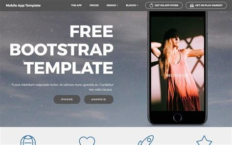 bootstrap templates for mobile app bootstrap themes at bootstrapzero