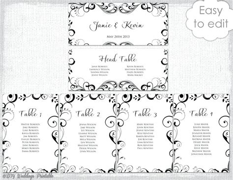 picturesque design wedding table plan template free sample seating